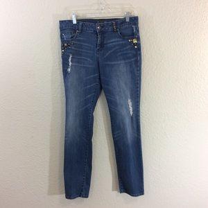 Apt 9  Distressed Skinny jean size 10